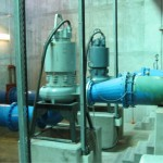 Replacement of a sewage immersible pumpset