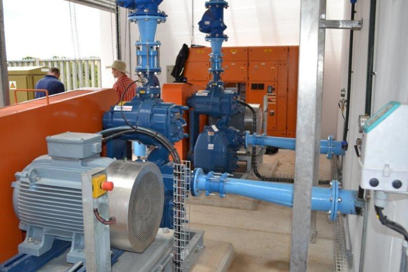Pump set at Asazani Pump Station